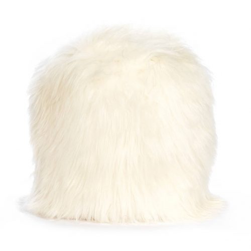 IJslands stump pouf white